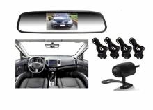 Огледало 3 в 1 с камера за паркиране и парктроник за кола АТ 112M