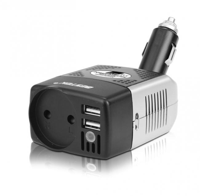 Инвертор на напрежение от 12V на 220V - 150W за автомобил DIVA CPI-150