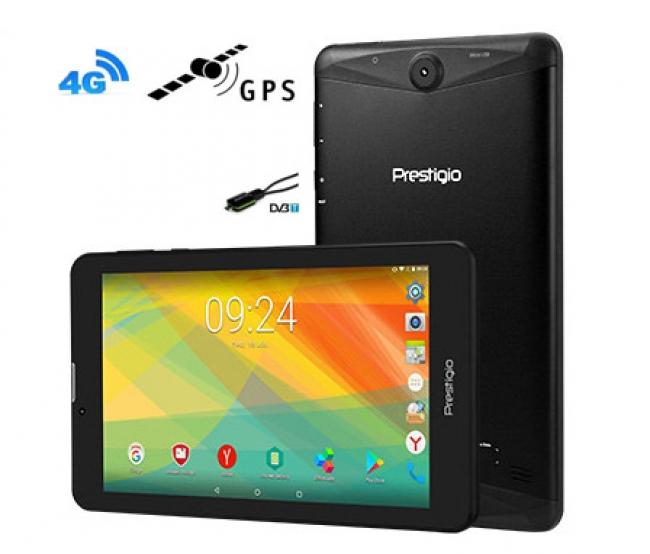 Таблет + GPS + Цифрова ТВ + Телефон + DVR Prestigio Grace 3157 4G, 24GB, 7 инча 5в1