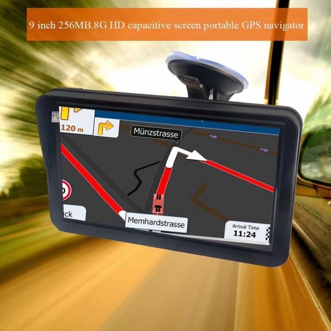 GPS навигация за камион с 9 инчов екран MEDIATEK E9, ВГРАДЕН СЕННИК, 256MB RAM
