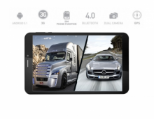 4в1 4G GPS Таблет Prestigio MultiPad Wize 3508 - 8 инча, SIM, Android 5, 16GB, DVR