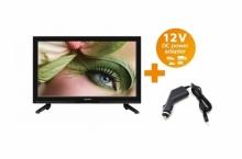 Портативен телевизор LED LCD Crown с цифров тунер - 23 инчa 12-220V
