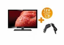 Портативен телевизор с цифров TV тунер LED LCD - Crown, 16 инчa 12-220V