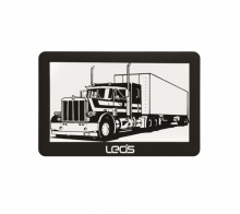 GPS навигация за камиони LEOS TRUCK MATE 5 инча, 256MB, 2 програми, Сенник