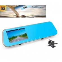 Огледало DVR 4.3 инча + камера за паркиране AT BTK15L 2CAM FULL HD